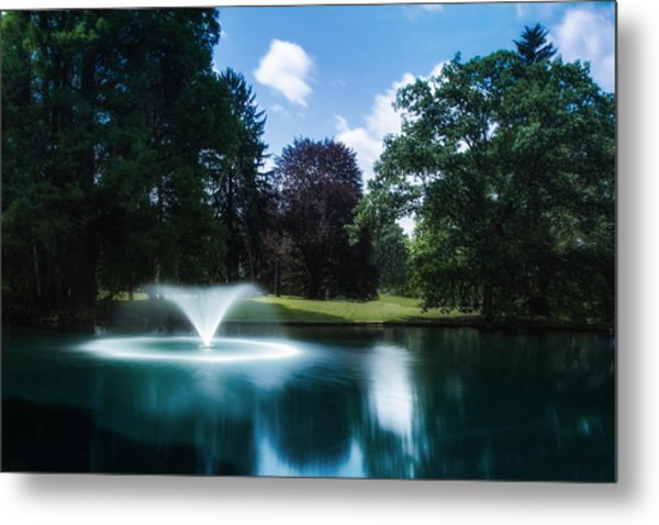 Water Fountain At Spring Grove Metal Print