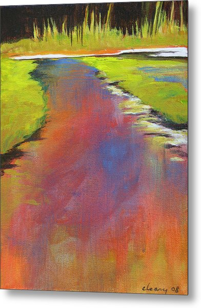 Water Garden Landscape 6 Metal Print by Melody Cleary