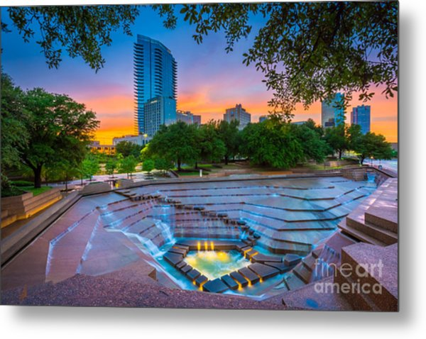 Water Gardens Sunset Metal Print