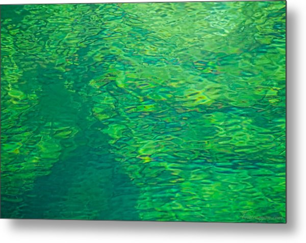 Water Green Metal Print