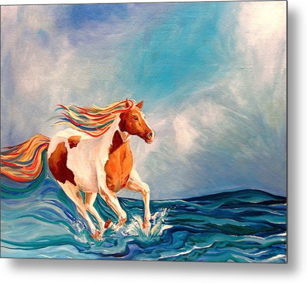 Water Horse Metal Print by Rebecca Robinson