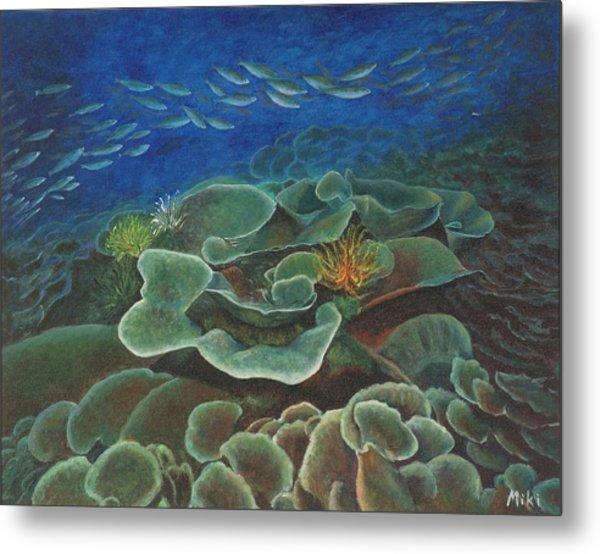 Water Life Floral Metal Print