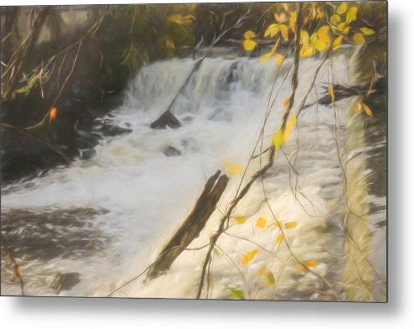 Water Over The Dam. Metal Print
