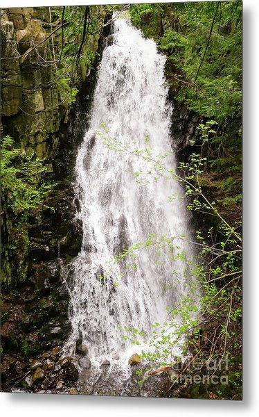 Water Roaring Down Cascade Falls, Farmington, Maine  -30377 Metal Print