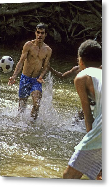 Water Soccer Metal Print