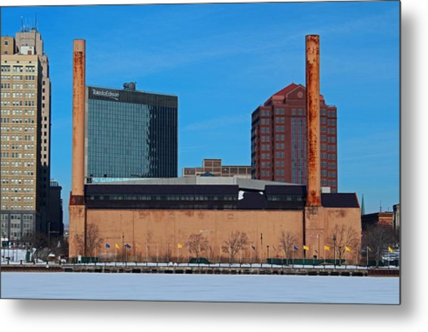 Water Street Steam Plant In Winter Metal Print
