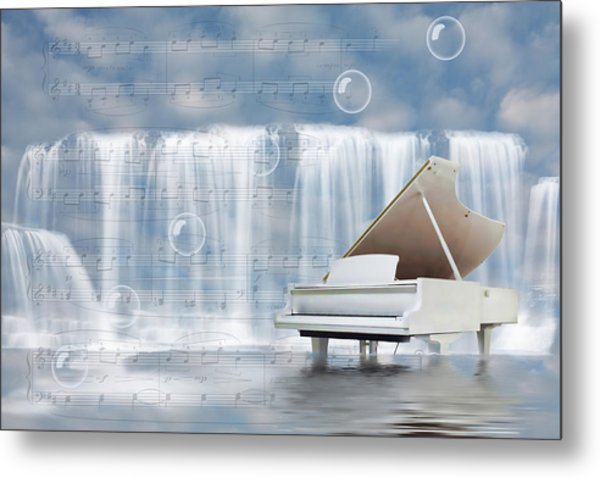 Water Synphony For Piano Metal Print