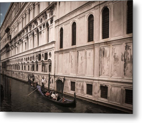 Water Taxi In Venice Metal Print