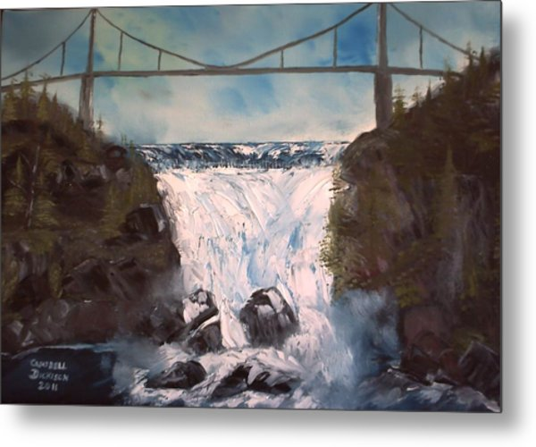 Water Under The Bridge Metal Print by Campbell Dickison