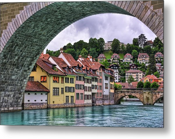 Water Under The Bridge In Bern Switzerland Metal Print