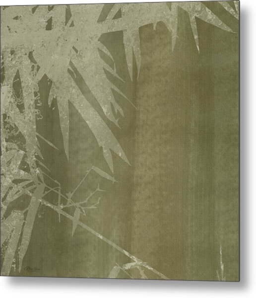 Watercolor Bamboo 02 Metal Print