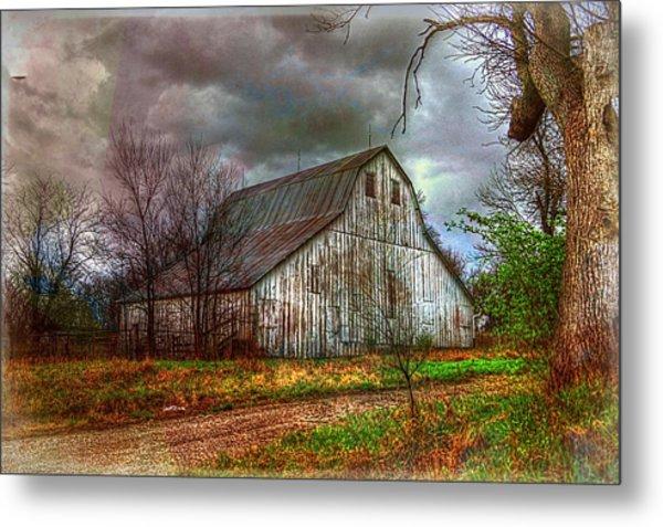 Watercolor Barn 2 Metal Print