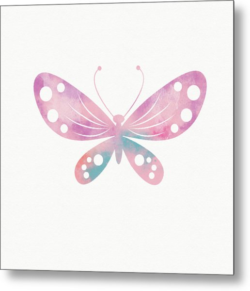 Watercolor Butterfly 1- Art By Linda Woods Metal Print