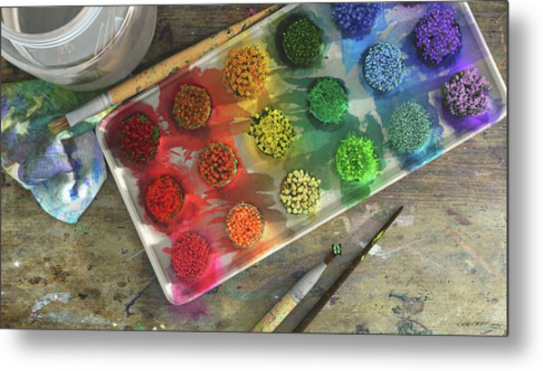 Watercolor Metal Print