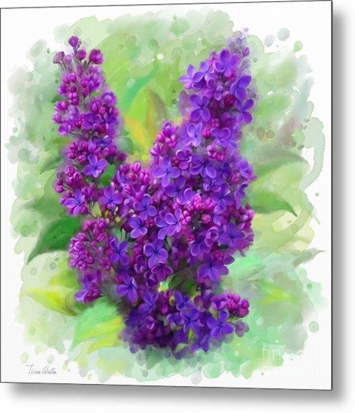 Watercolor Lilac Metal Print