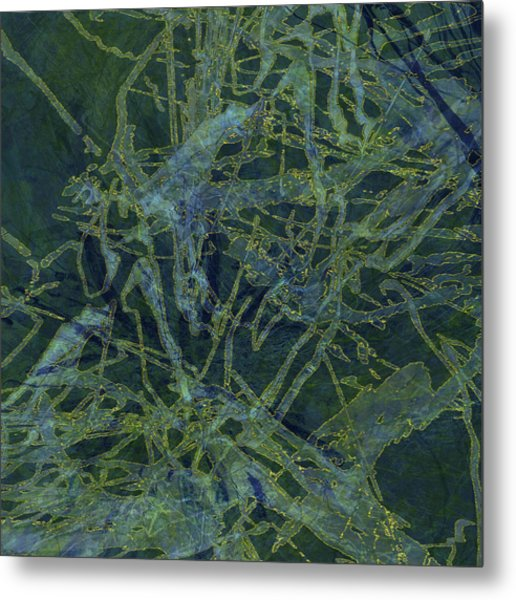 Edition 1 Watercolor Moss Metal Print