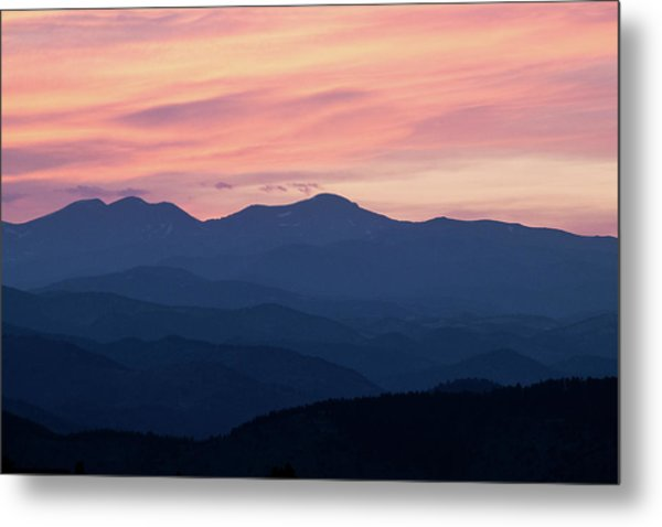 Watercolor Sunset Metal Print