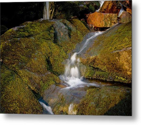Waterfall At Dawn Metal Print