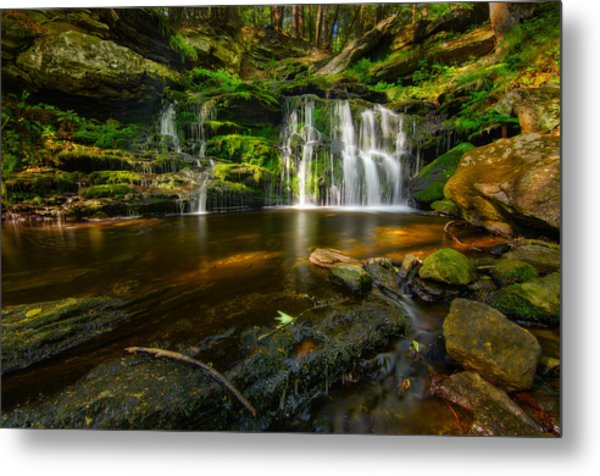 Waterfall At Day Pond State Park Metal Print