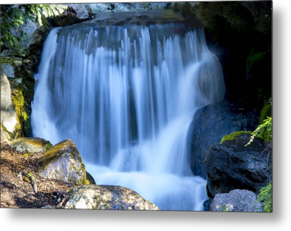 Waterfall At Dow Gardens, Midland Michigan Metal Print