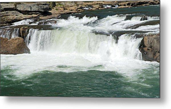 Waterfall At Ohiopyle State Park Metal Print