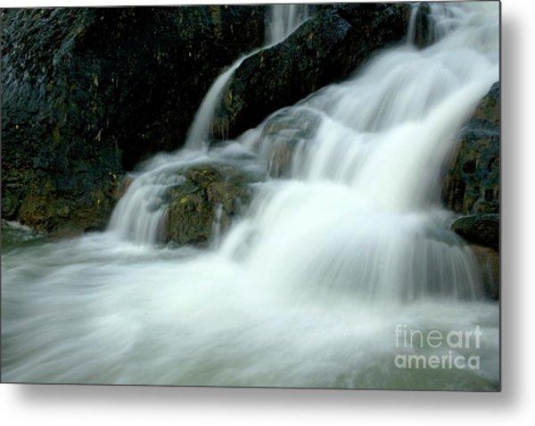 Waterfall Cascading Into Li Jiang River Metal Print by Sami Sarkis