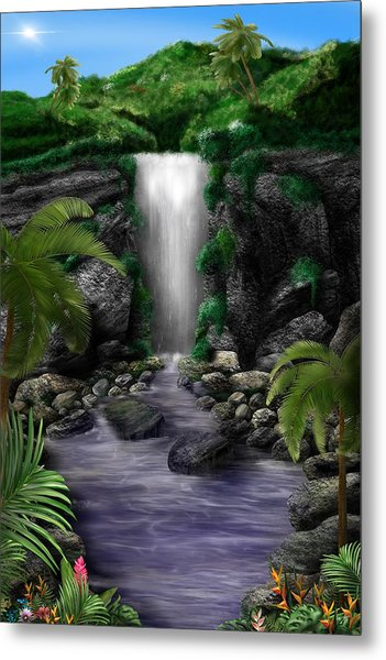 Waterfall Creek Metal Print