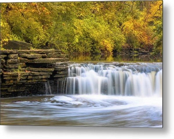 Metal Print featuring the photograph Waterfall Glen, Lemont, Il by Adam Romanowicz