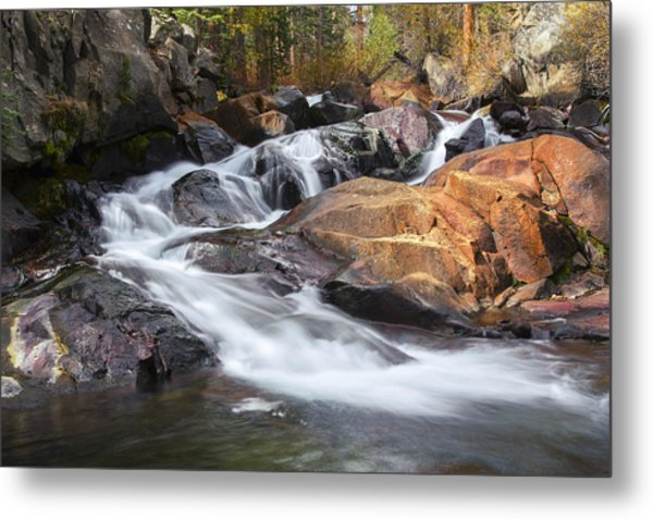 Waterfall In Lee Vining Canyon 2 Metal Print