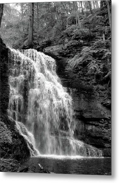 Waterfall Metal Print by Jessica Dandridge