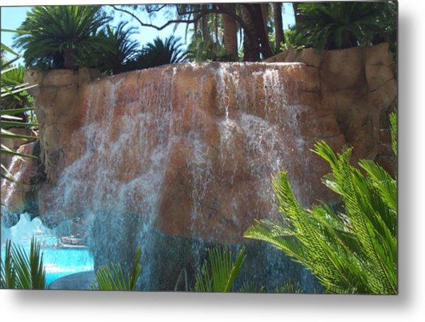 Waterfall Las Vegas Nevada Metal Print by Alan Espasandin