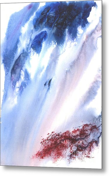 Waterfall Metal Print by Mui-Joo Wee