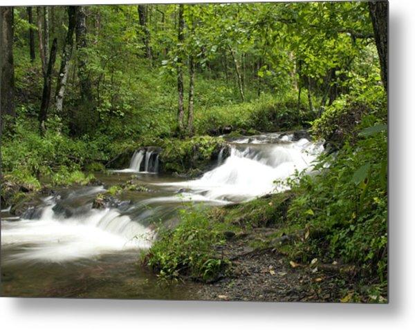 Waterfall Oasis Metal Print by Tina B Hamilton