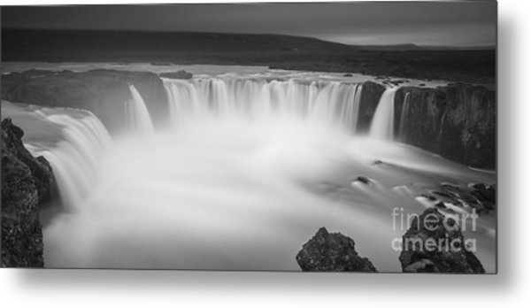 Waterfall Of The Gods Iceland Metal Print
