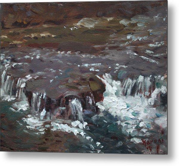 Waterfalls At Three Sisters Islands Metal Print