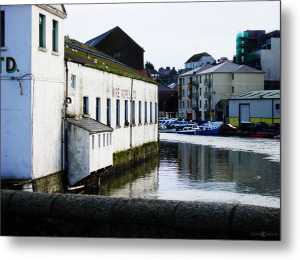 Waterfront Factory Metal Print