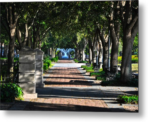 Waterfront Park Charleston Metal Print by Lori Kesten