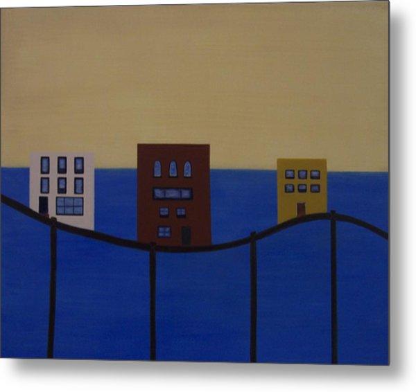 Waterfront Property Metal Print by Sandy Bostelman
