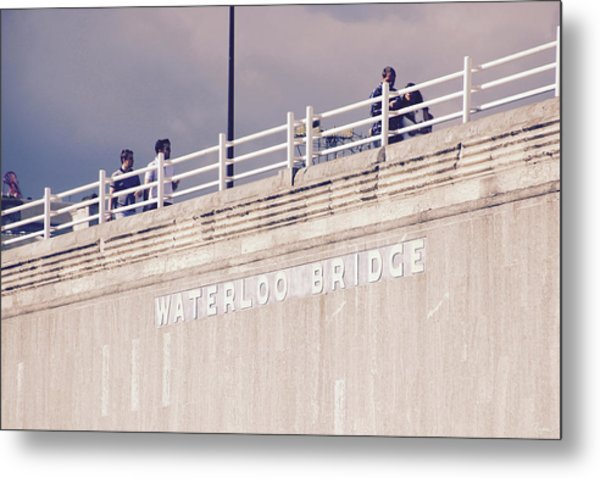 Metal Print featuring the photograph Waterloo Bridge by Rasma Bertz