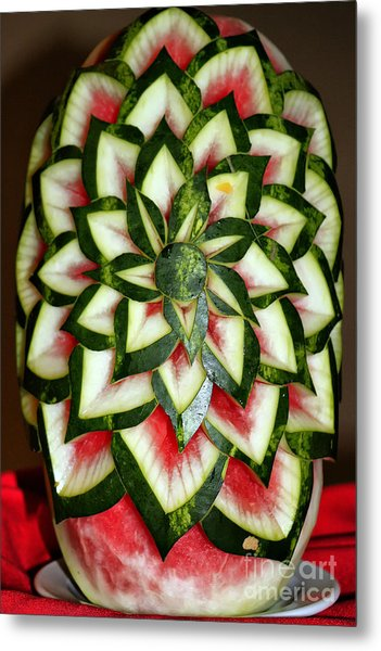 Watermelon Art Metal Print