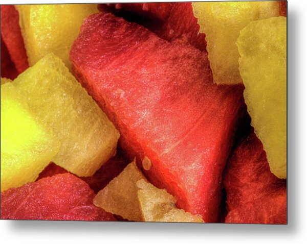 Watermelon The Summertime Treat Metal Print