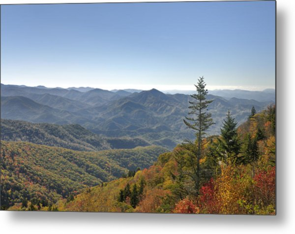 Waterrock Knob On Blue Ridge Parkway Metal Print by Darrell Young