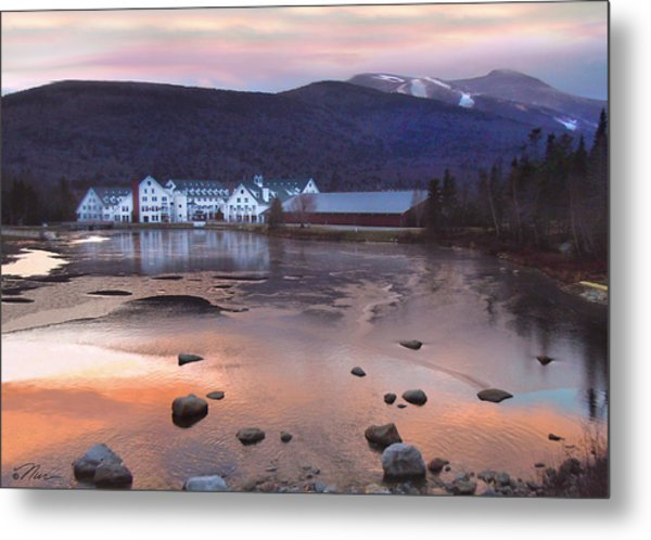 Waterville Valley Sunset Metal Print