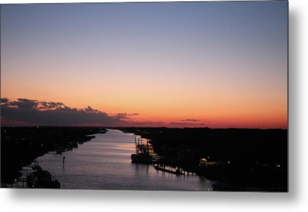 Waterway Sunset #1 Metal Print