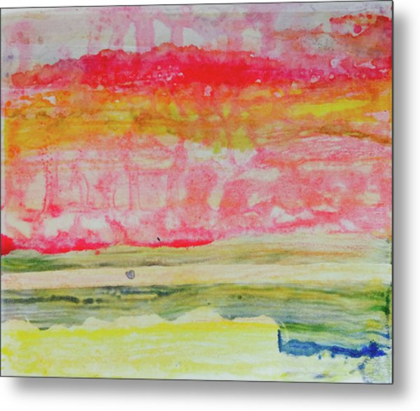 Watery Seascape Metal Print