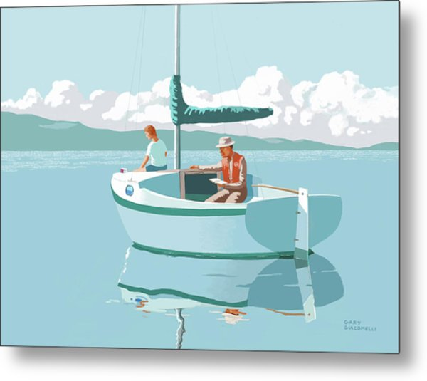 Wating For The Wind Metal Print