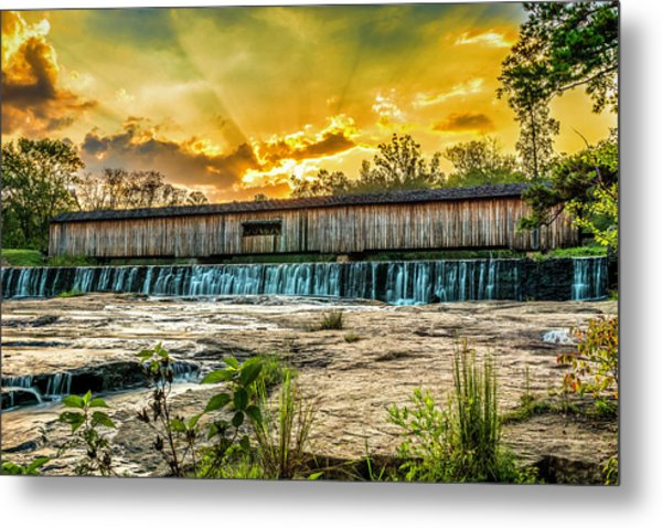 Metal Print featuring the photograph Watson Mill Covered Bridge by Michael Sussman