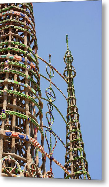 Watts Towers Metal Print