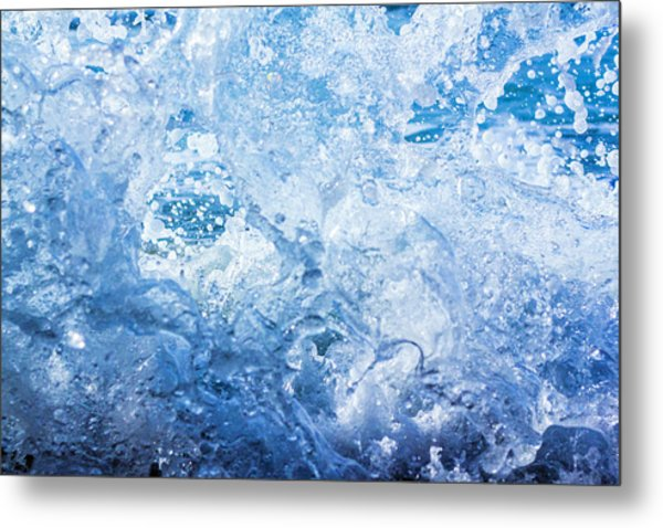Wave With Hole Metal Print