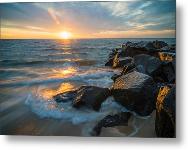 Wave Break Metal Print